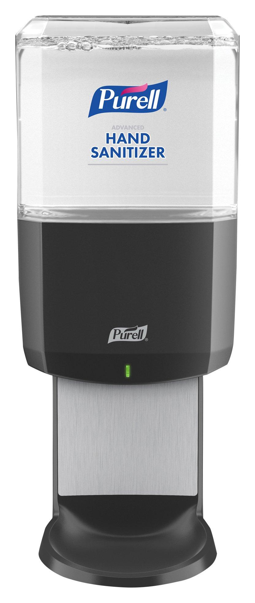 PURELL Hand Sanitizer ES6 Dispenser, Graphite - Dispenser for ES6 Hand Sanitizer 1200mL Refills - 6424-01
