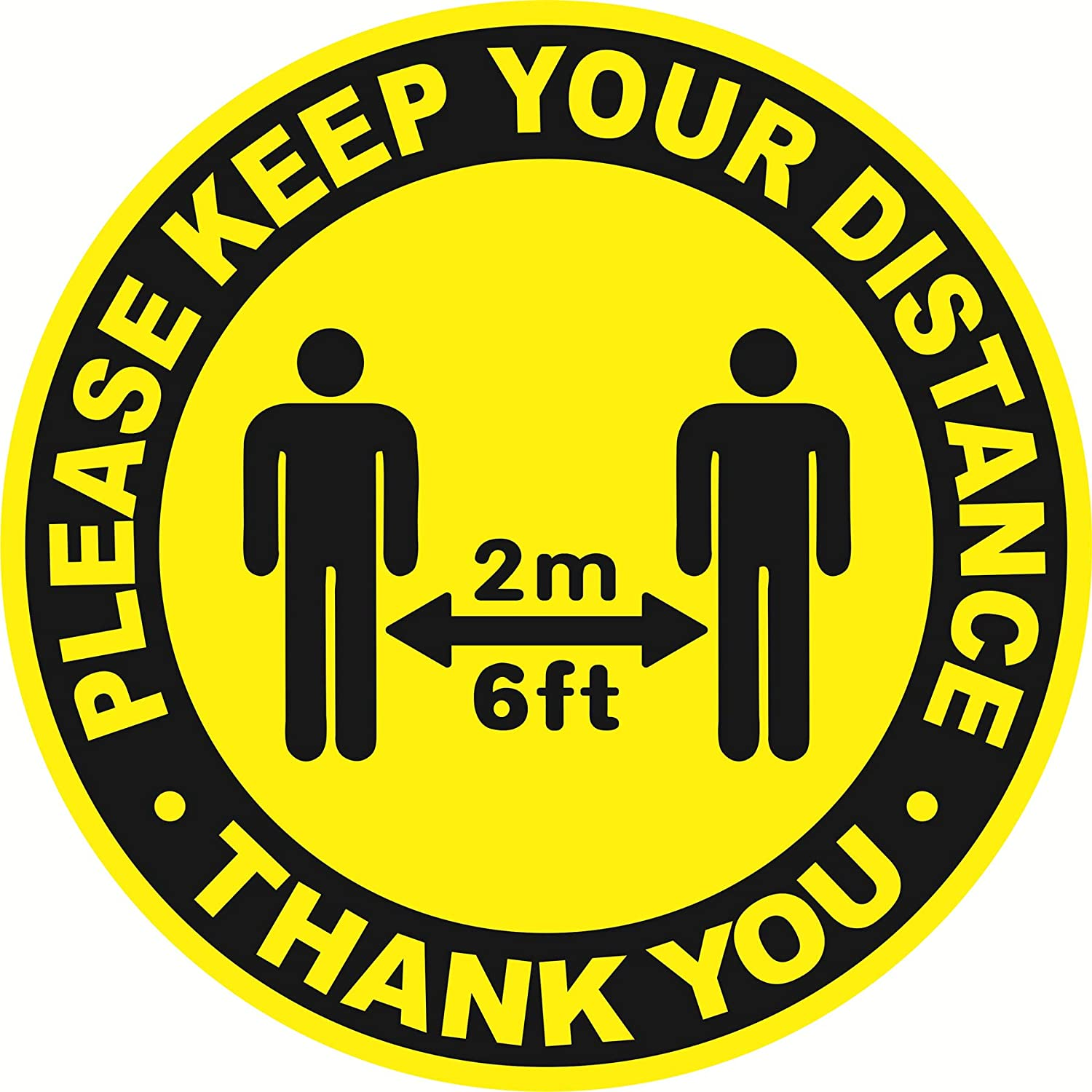Social Distancing Floor Decal Stickers 6 Ft Stand Apart Notice Caution B