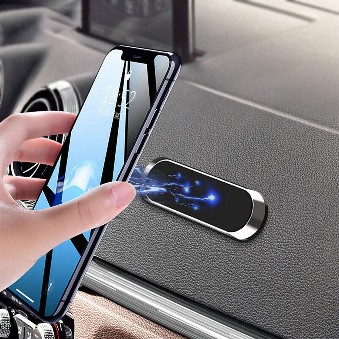 Echo Auto Mount /& Echo Auto 2 Pack LinkIdea Magnetic Car Phone Mount Add Alexa to Your Car The Magnet Cell Phone Holder for  Echo Auto Universal Dashboard Car Magnetic Mount Accessories