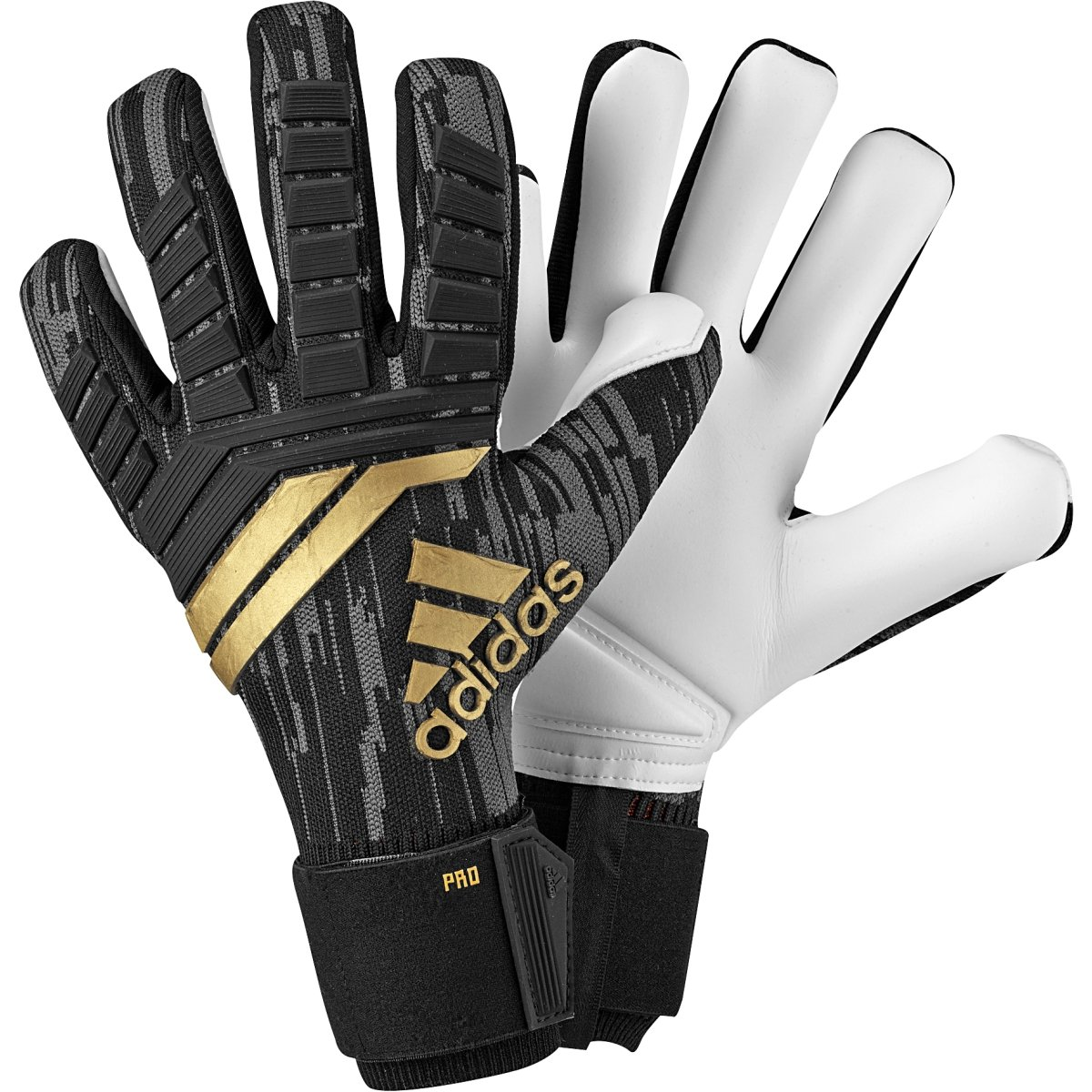 save off 9f0a5 32d10 Adidas Ace 18 Pro Goalkeeper Gloves Black/Gold 10 ...