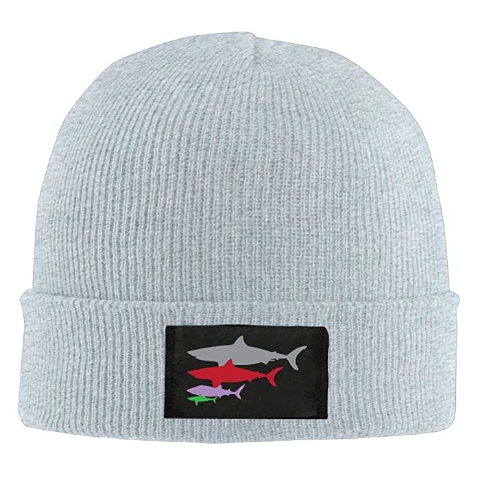 Adult Shark Pattern Warm Acrylic Knit Beanie Hat Skull Cap At Amazon