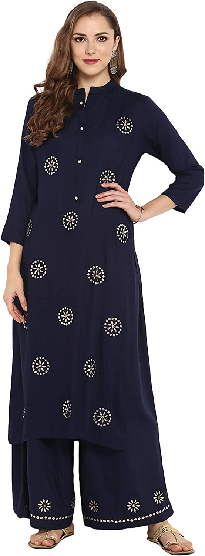 Janasya Indian Tunic Tops Rayon Kurti Set for Women