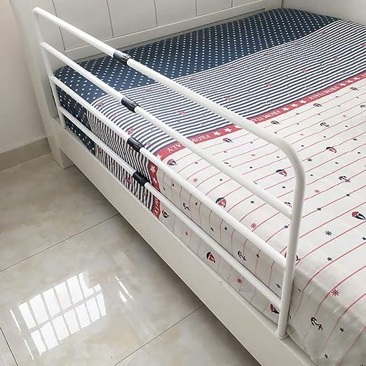 Blanco Protector Lateral de Seguridad para Rieles de Cama para Adultos Y Barra de Agarre del Manillar Auxiliar de Pie Barandillas para camas Rieles de Cama Telesc/ópicos para Ni/ños de Edad Avanzada