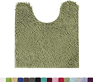 MAYSHINE Contour Bath Rugs/Non Slip/Soft/Absorbent Water/Dry Fast/Machine-Washable (20x24 Inches Sage Green)