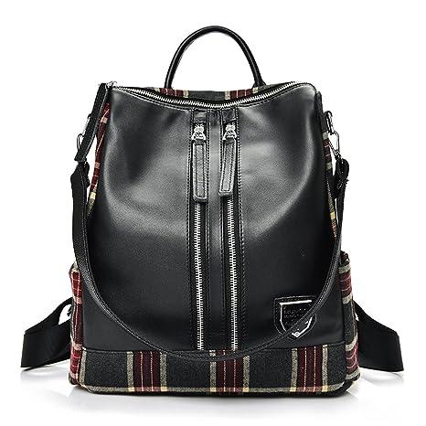a5a2eaa223 Outreo Borsa Donna Zaino Ragazza Borse in Pelle Firmate Scuola Borsello  Vintage Bag Casual Backpack per
