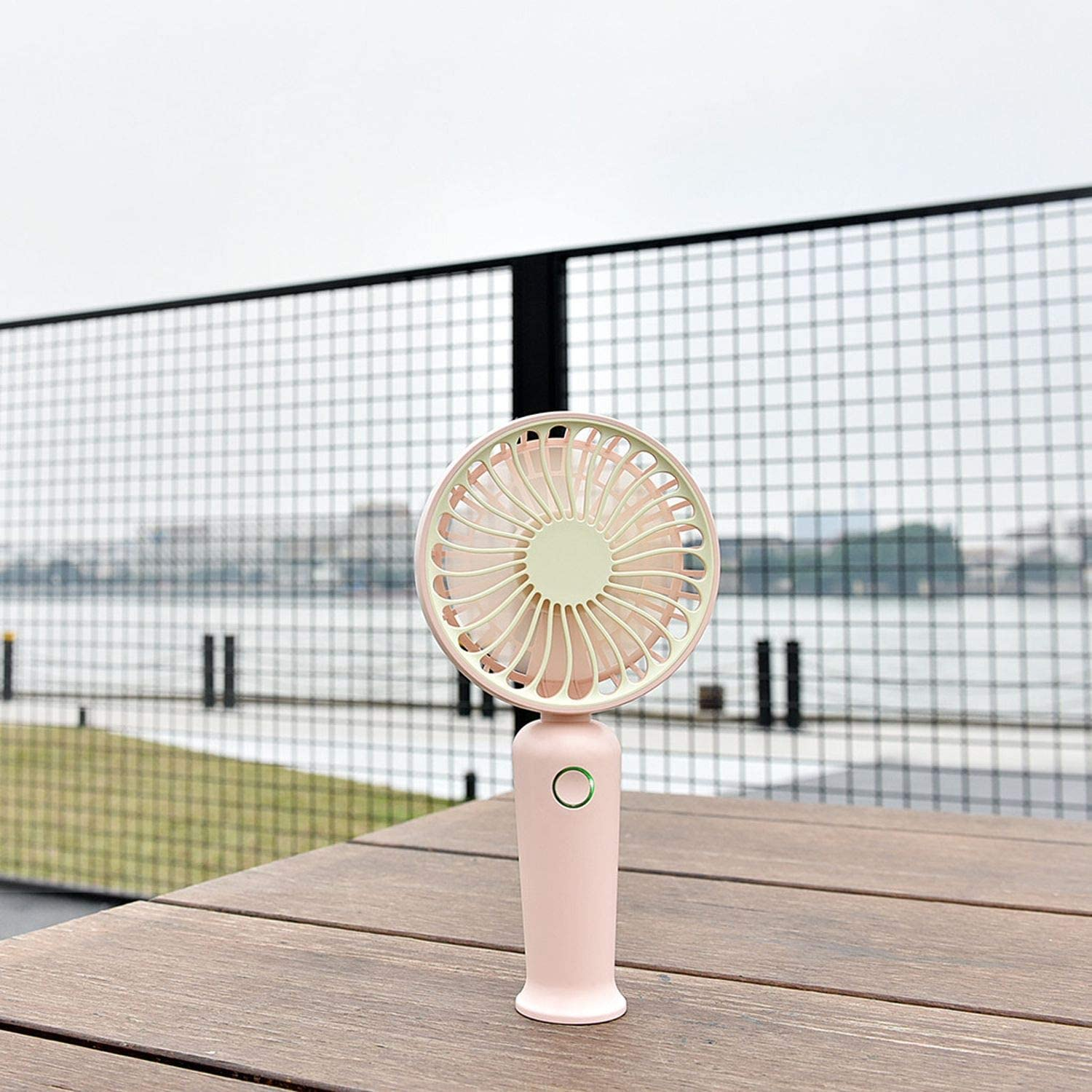 Handheld Fan USB Rechargeable Portable USB Powered Cooling Fan Handheld Mini Fan USB Rechargeable Fan Cool USB Gadgets #,Gray