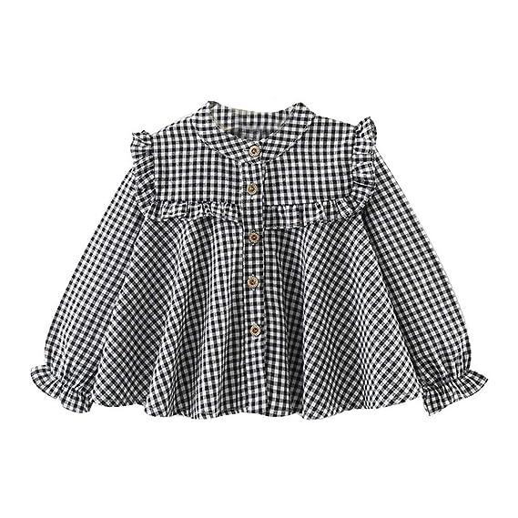 Camisetas y Blusas Manga Largas para Bebé Niñas Otoño Invierno 2018 Fiestas Moda PAOLIAN Ropa de