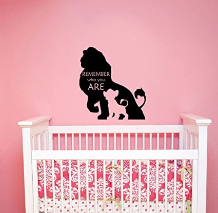 Amazoncom Remember Who You Are Lion King Wall Decal Walt Disney