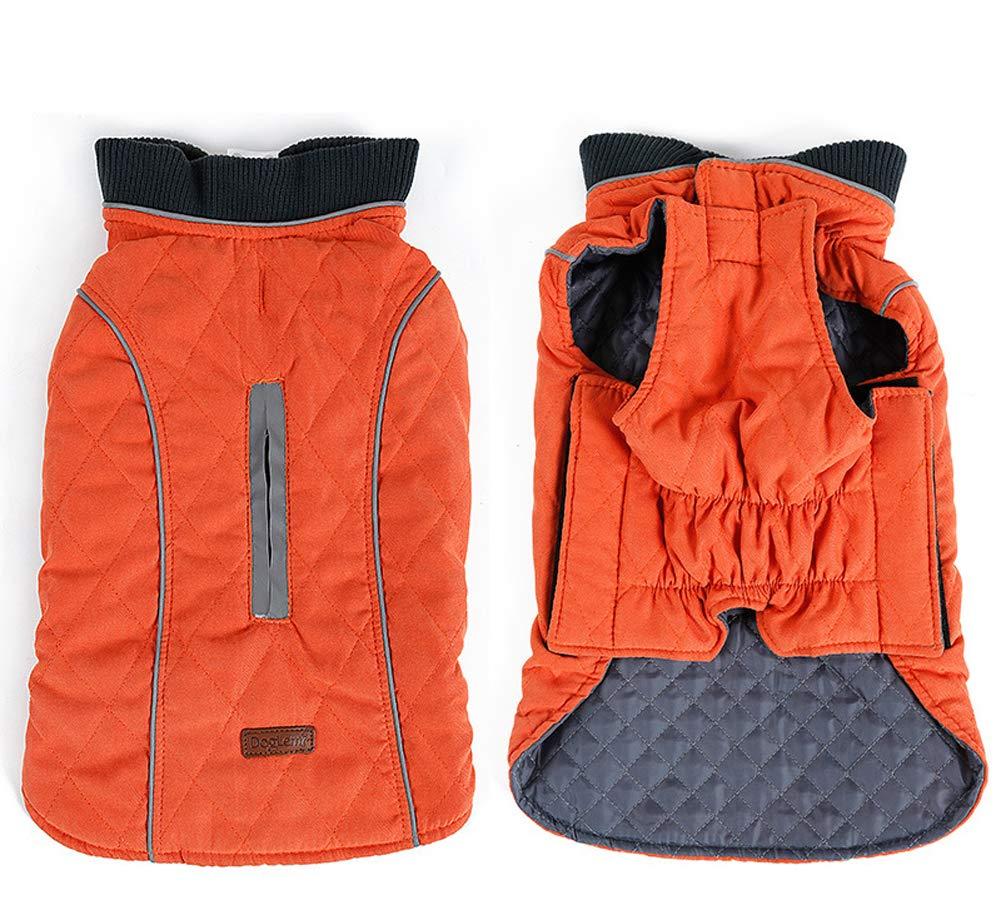 PENIVO 6 Couleurs vêtement Chien vêtements de Chien imperméable Hiver vêtements Chauds Manteaux réversibles Petit Moyen Grand Chien (S, Bleu)