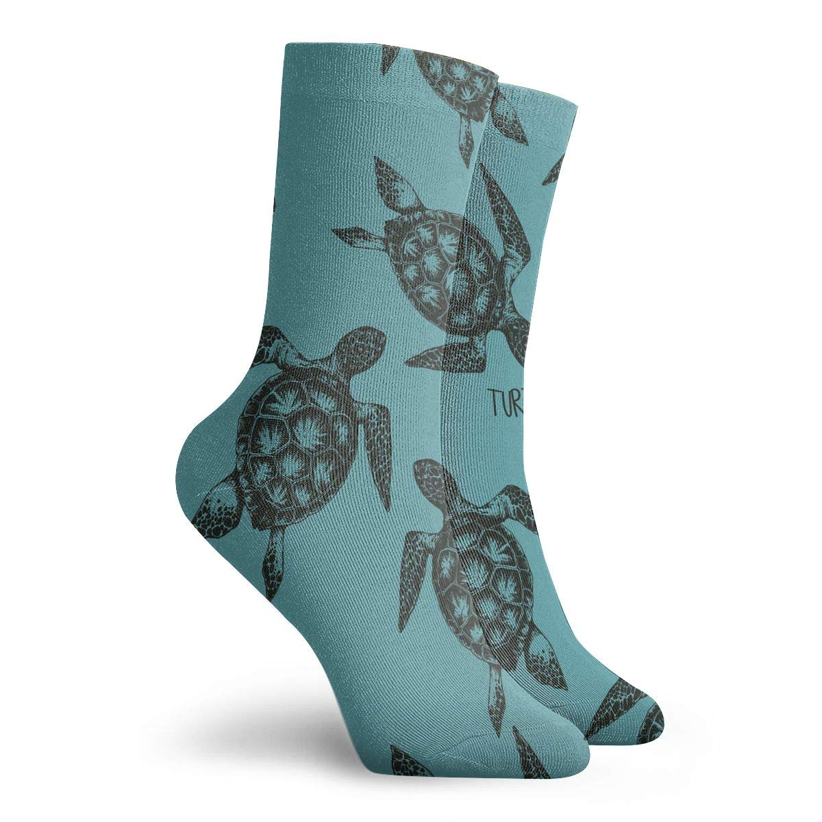 Women Men Sea Turtles7 Pattern Cushion Ankle Socks