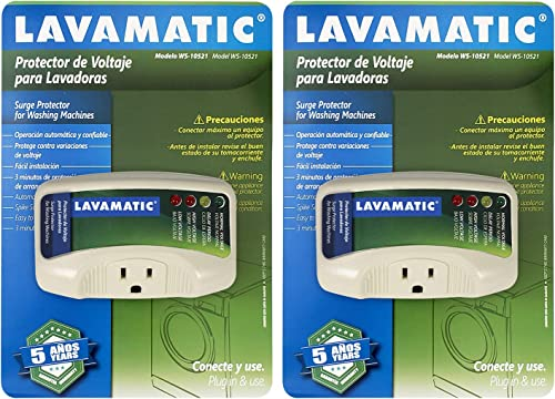 Lavamatic WS-10521 Electronic Surge Protector for Washing Machine Front Top Load Washers 2 Pieces