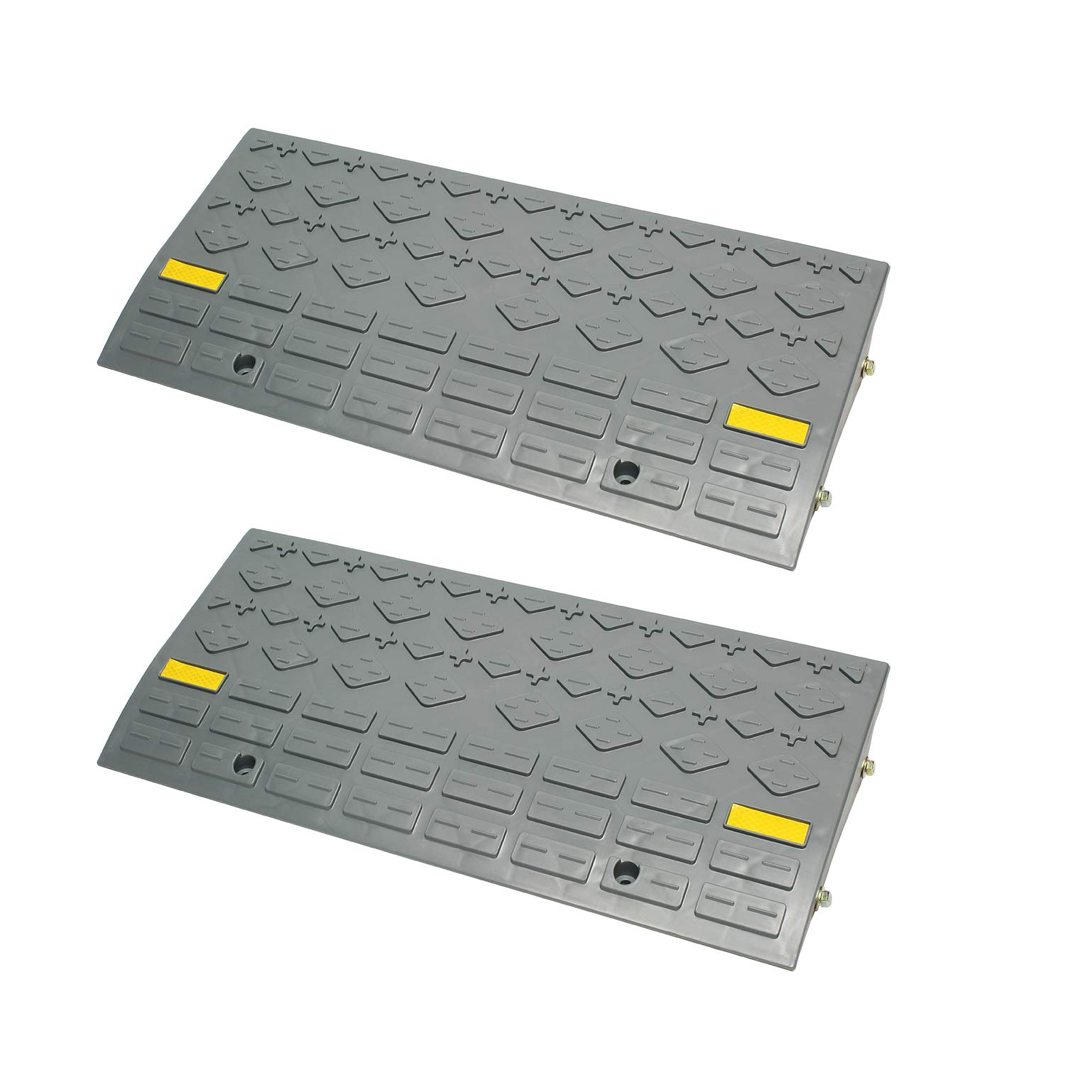 BISupply | Curb Ramps for Driveway Ramps for Low Cars, Car Ramps, Motorcycle Ramp, Threshold Ramp, Loading Ramps 4'' 2pk