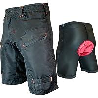 Urban Cycling Apparel Youth Single Tracker - Kids Mountain Bike MTB Cargo Shorts Bundle with Detachable Padded Undershorts