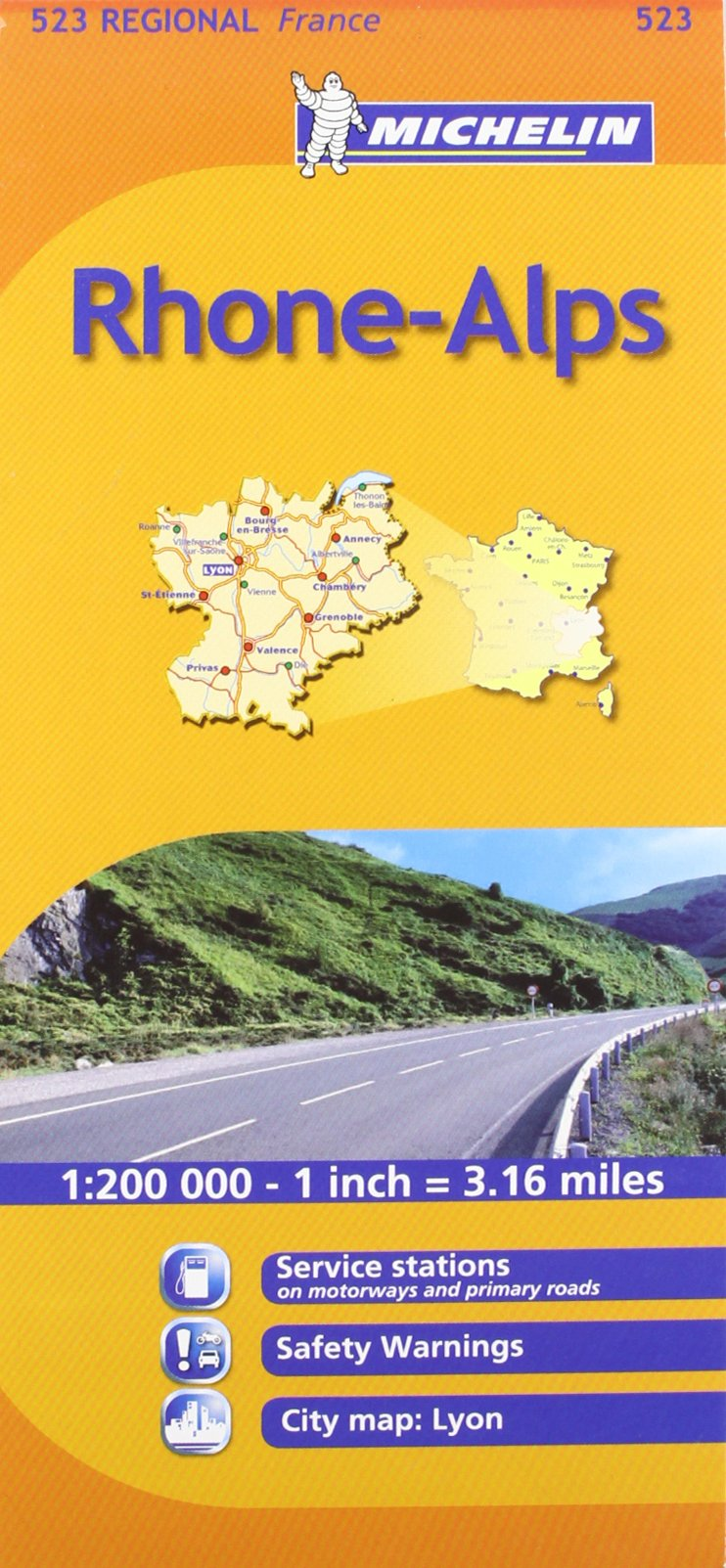 Michelin Map France Rhone Alpes 523 Maps Regional Michelin