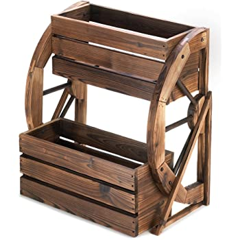 Amazon Com Gifts Amp Decor Country Flower Cart Rustic