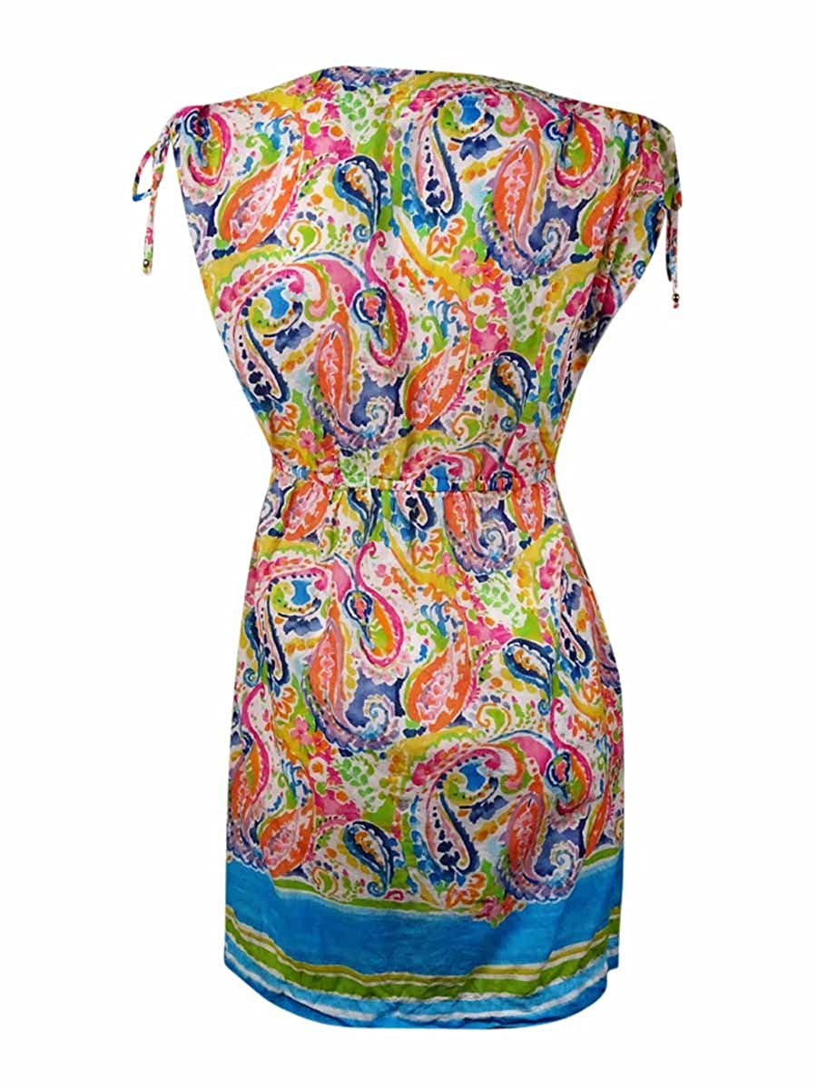 089c790b41ecb Ralph Lauren Lauren Women's Paisley Ruched Cotton Swim Cover (M, Multi) at  Amazon Women's Clothing store: