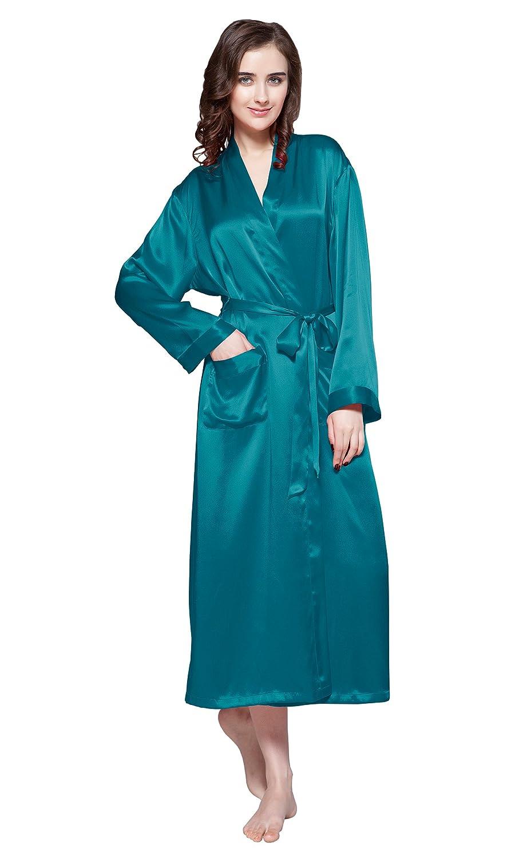 LilySilk Long Silk Robe for Women 22 Momme Women Sleepwear Silk Bathrobes ca2111