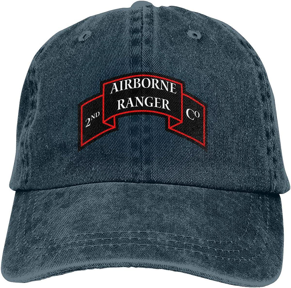 US 2nd Ranger Infantry Company Unisex Adult Baseball Hats Cowboy Hats Denim Hats Dad Hat