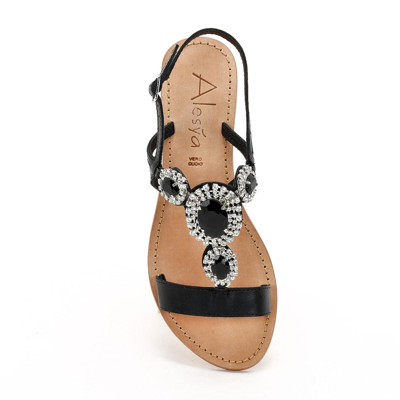 E Bassi Scarpe Amp;scarpe Con D92eiwh Alesya Sandali Pietre Ygbvf67y