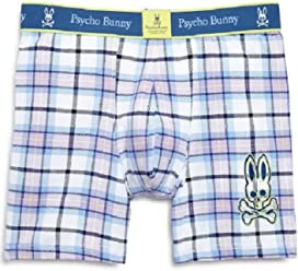 Psycho Bunny Mens Cotton Stretch Knit Boxer Briefs