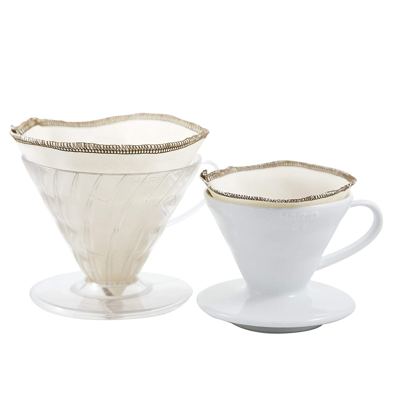 GOTS Certified Organic Cotton Reusable Coffee Filters CoffeeSock Reusable Filters Made To Fit Hario v60-03 V03 V60-03