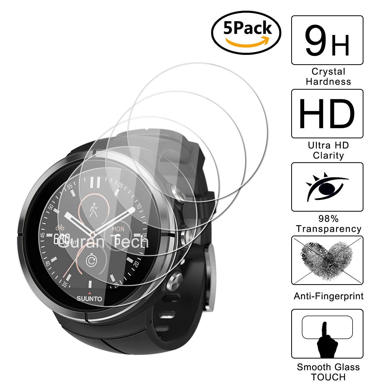 Guran [5-Unidades] Protector de Pantalla Vidrio Cristal Templado para Suunto Spartan Ultra Smartwatch Cristal Vidrio Templado Film (9H, 2.5D Edge, ...