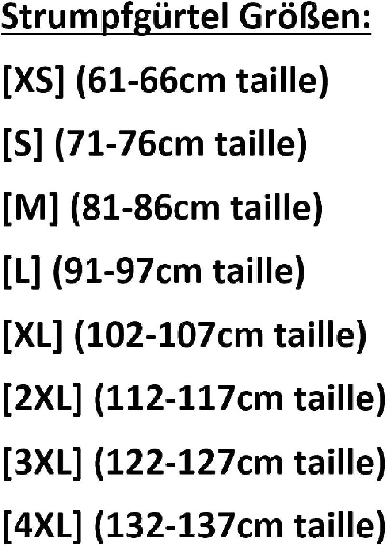 XL, Schwarz Nancies 10 Strumpfband Hosentr/äger NDL11