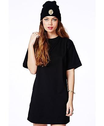 Womens Alexisa Black Oversized T Shirt Dress Black 6 Amazon