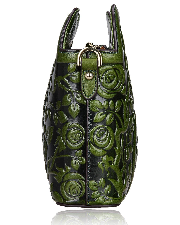Pijushi Designer Floral Collection Leather Rose Clutch Handbags 22356