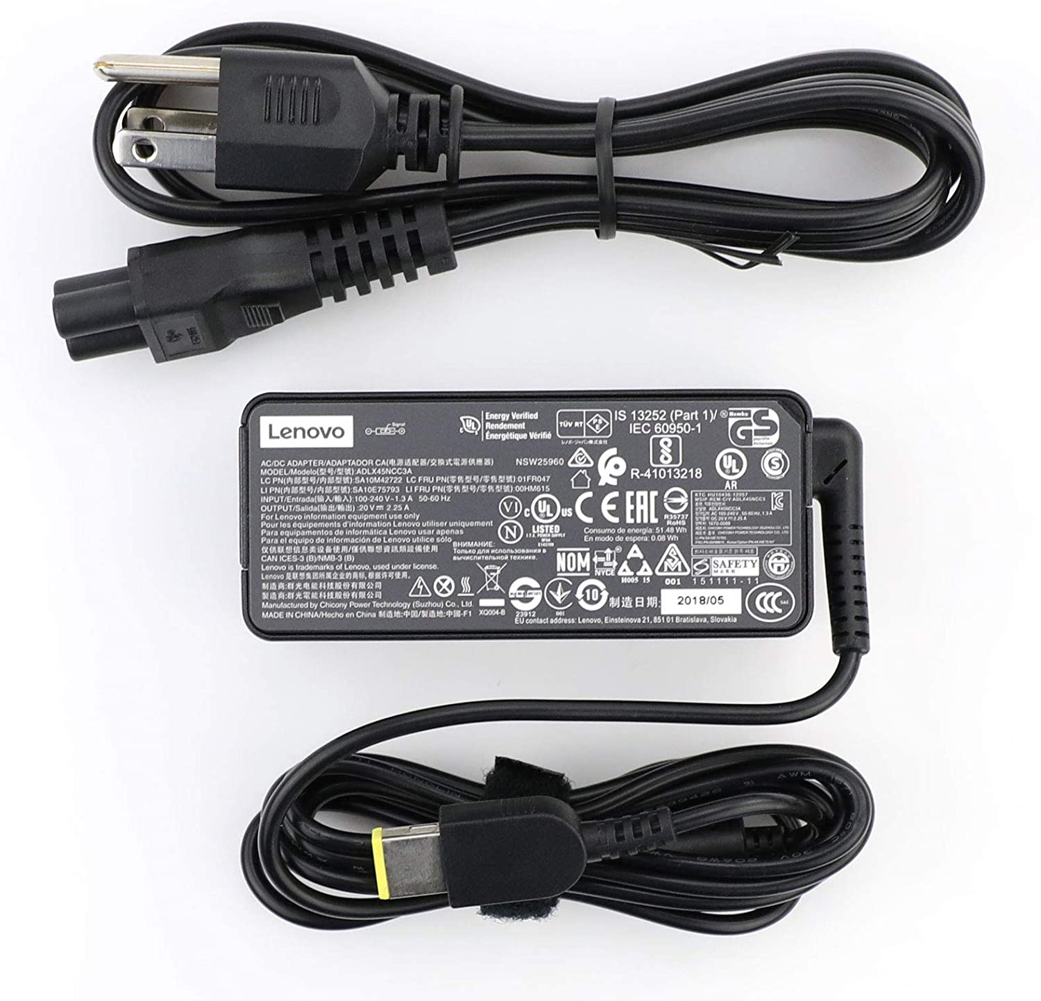 New Genuine ThinkPad Laptop Charger 45W 20V 2.25A Slim Tip AC Adapter ADLX45NCC3A for Lenovo ThinkPad X230s X240 X240S X250 X260 X270 T440 T440S