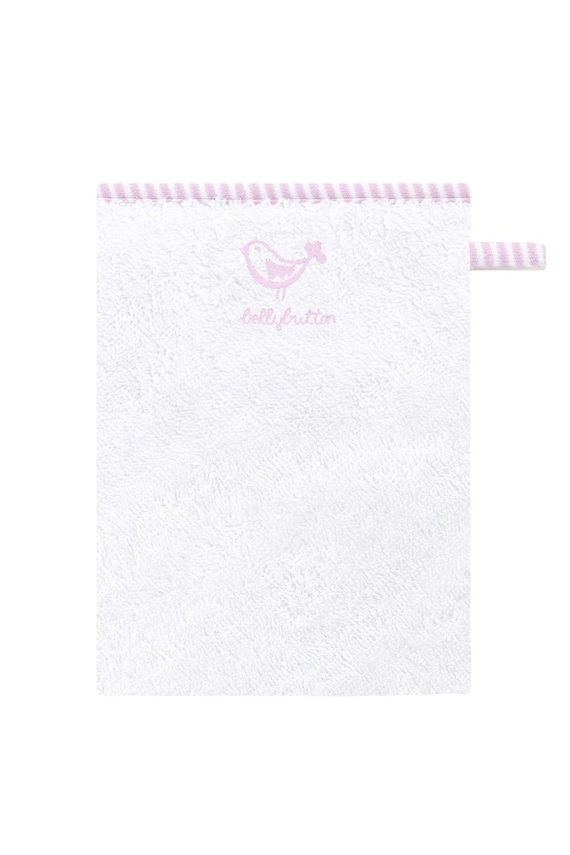 Bellybutton Gants de Toilette - Broderie - Rose-Fond - Blanc 10870-90608