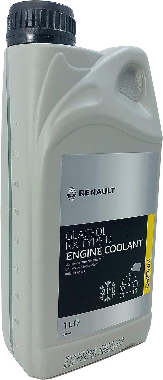 Renault Anticongelante Refrigerante Coolant Glaceol RX tipo D Verde, 1 litro: Amazon.es: Coche y moto