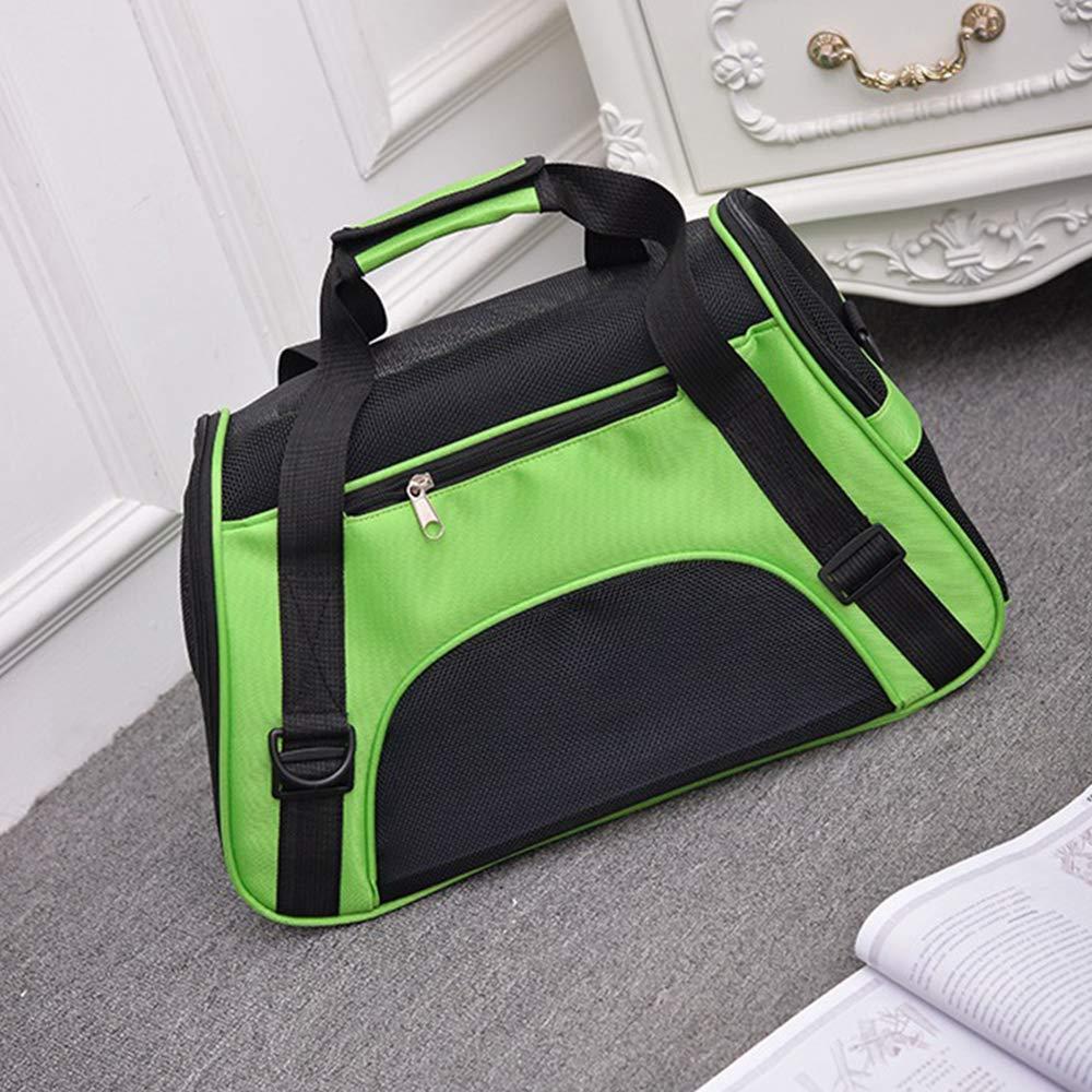 Green Medium Green Medium Decdeal Travel Outdoor Portable Pet Carrying Tote Bag Single Shoulder Bag Water-Resistant Breathable Mesh Handbag for Dogs Cats