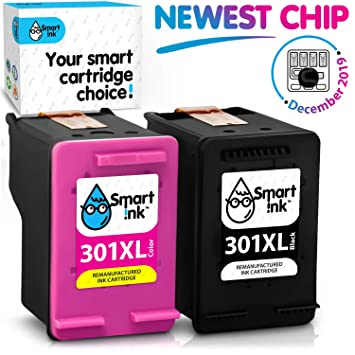 Smart Ink Reemplazo Compatible del Cartucho de Tinta 301XL 301 XL Alto Rendimiento 2 Pack (Negro & Color) Cartuchos para Deskjet 1000 1010 1050 1510 ...