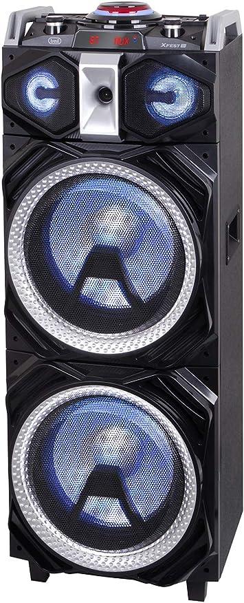 Trevi XF 4000 DJ De 4 vías - Altavoces para Sistema de megafonía (De 4 vías, Piso, Negro, MDF, 2 Canales, LED)