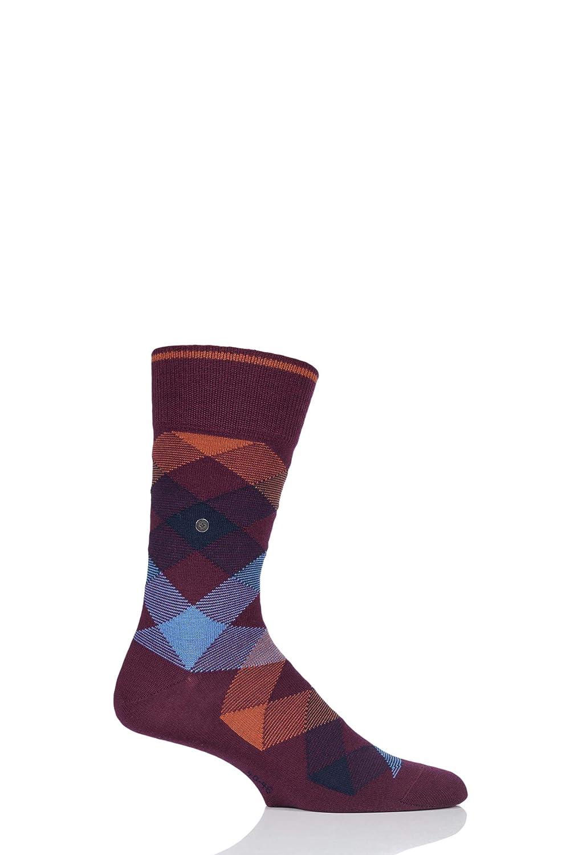 Burlington Newcastle, Calcetines para Hombre, Rojo (Merlot 8005), 40/46 (Talla del Fabricante: 40-46): Amazon.es: Ropa y accesorios