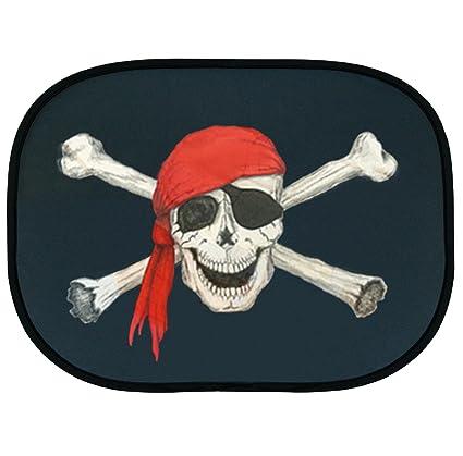 Parasol pirata Protección Solar Bandera pirata calavera ...