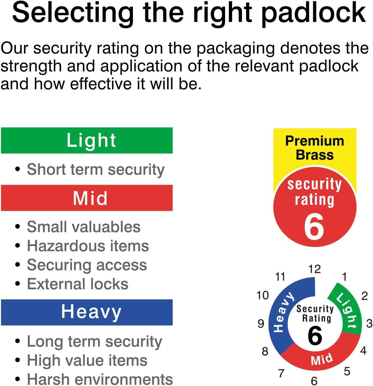 Candado de Seguridad cifrado con Horquilla Cerrada Importado de Reino Unido 7 cm Sterling CPL170