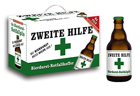 Zweite Hilfe Bierdurst Notfall Koffer Im 8er Geschenkkarton 8 X