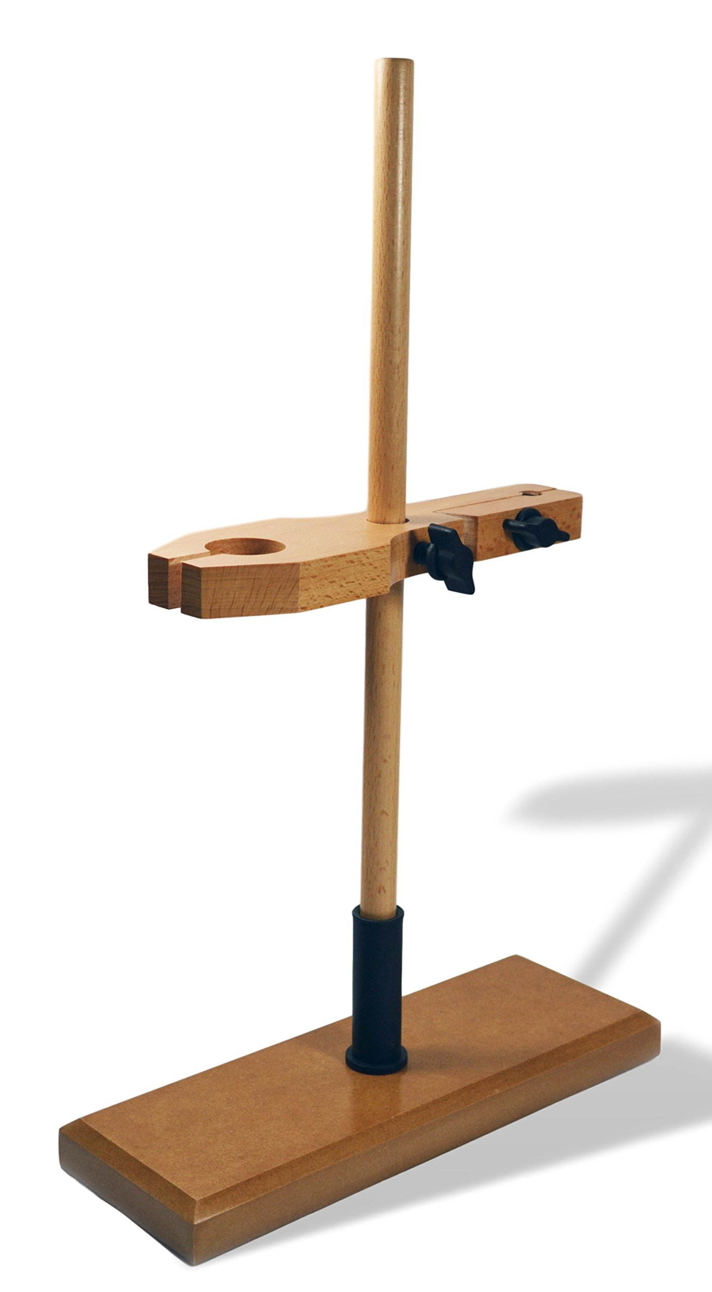 EISCO Funnel and Burette Combined Stand, Polished Wood