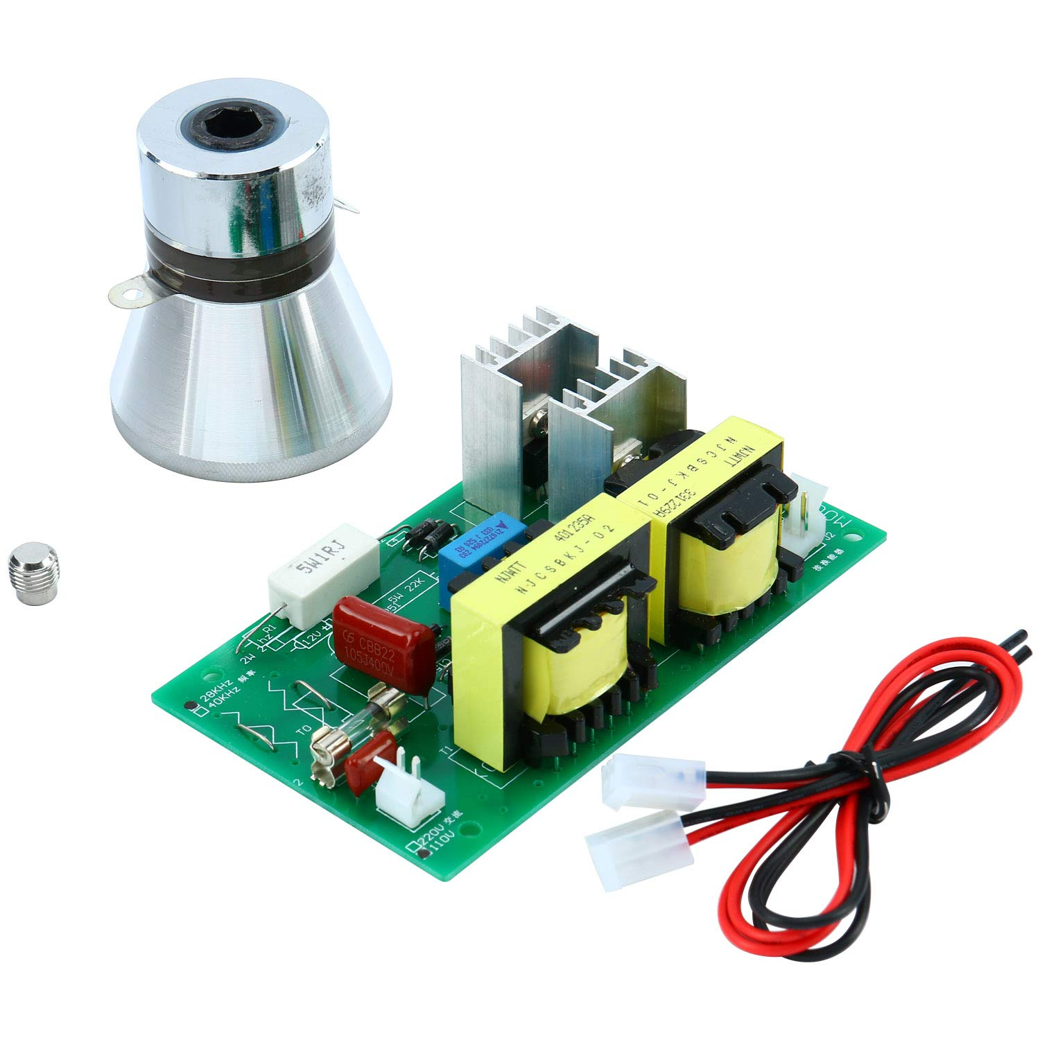 AC110V Power Driver Board + 100W 28KHz Ultrasonic Cleaning Transducer Cleaner by YaeCCC