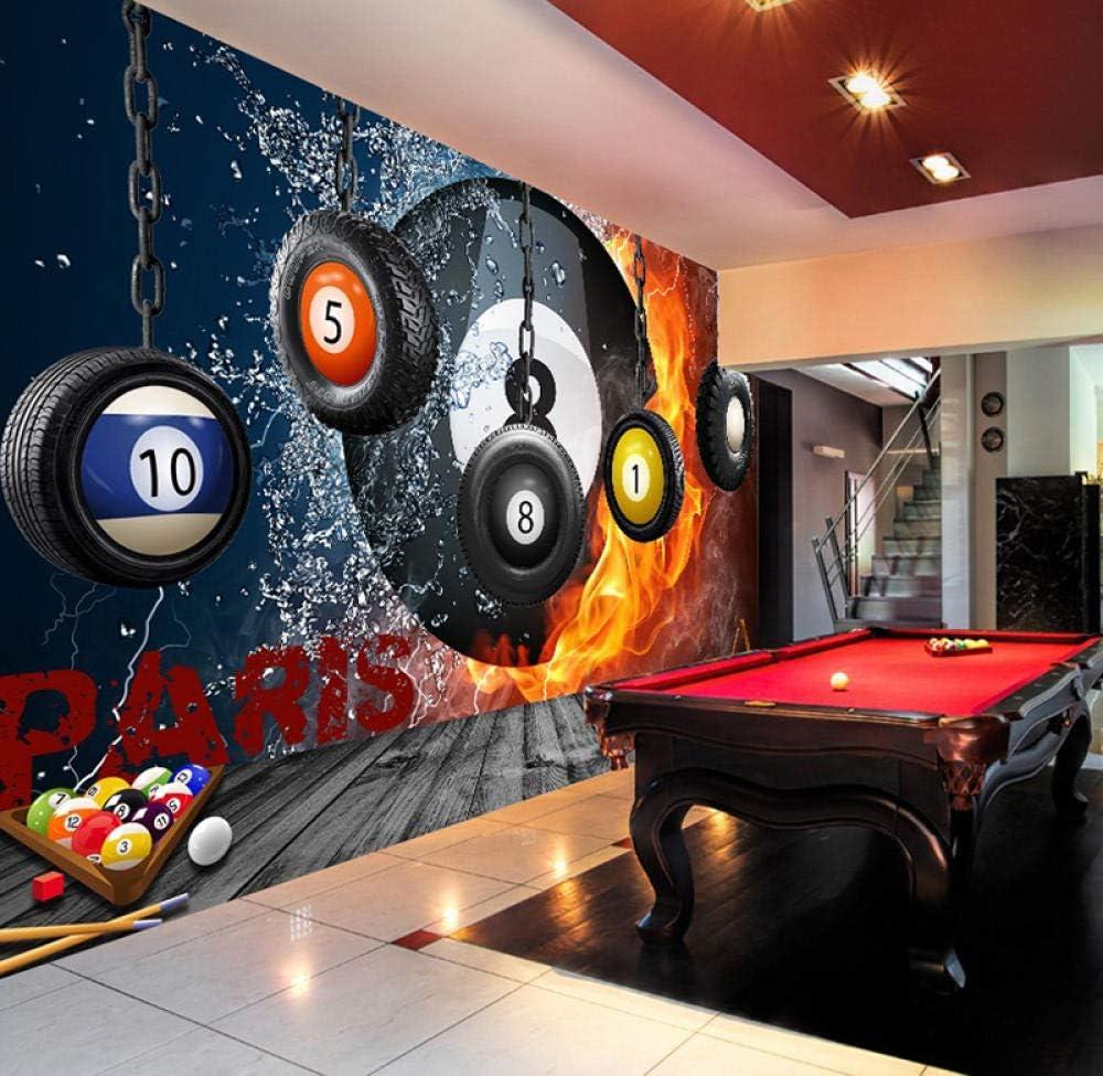 HYDQT 3D papel pintado pared mural Billar estéreo billar pool ...