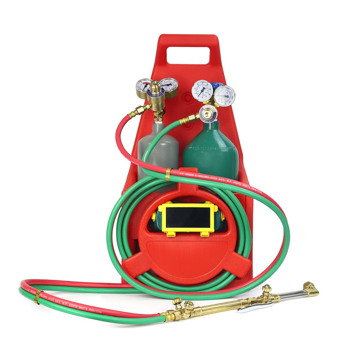 Xtremepowerus Professional Tote Oxygen Acetylene Oxy Welding Cutting Torch Kit Victor W Tank 55146