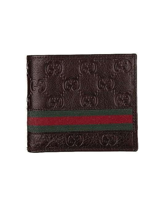 GUCCI - Billetera de cuero para hombre GUCCISSIMA MARGAUX - marrón: Amazon.es: Ropa y accesorios