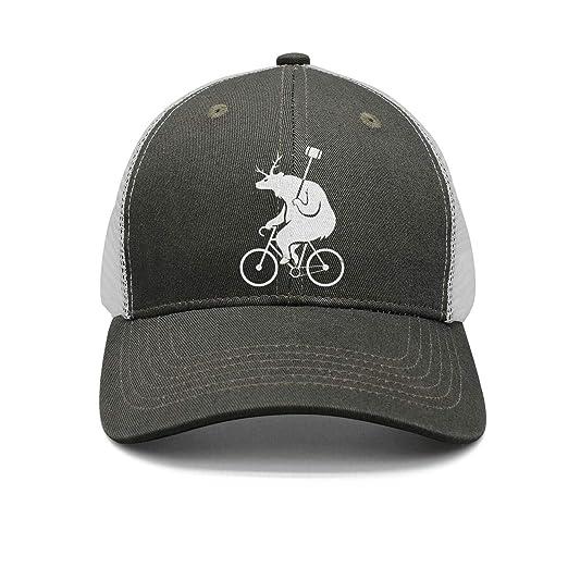 6f3b53d52 ZYNEW Bike Polo Bear Unisex Casual Mesh Flat Cap Fitted Snapback hat Sport  Cap One Size