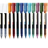 Rolling Ball Pens, Fine Point 0.5 mm Rollerball Pens with Quick-drying Ink, 11 Assorted Colors Retro Pens (5 Retro Colors + 5