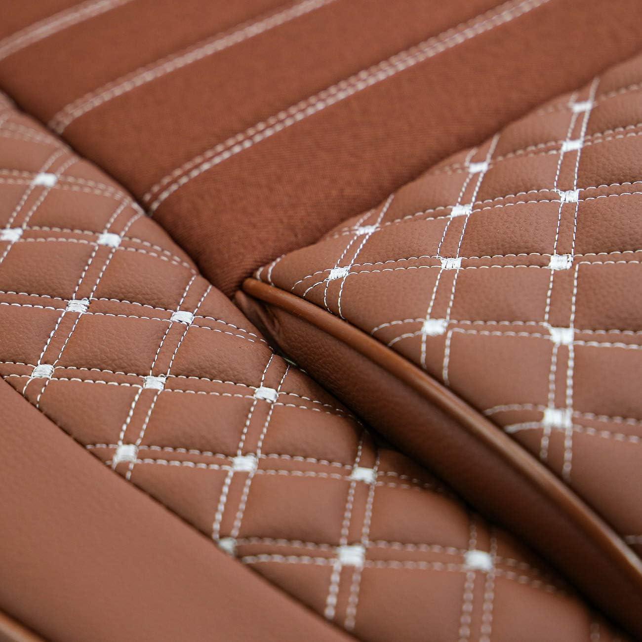 Couleur cannelle Kit complet pour si/èges avant et arri/ère Housses de si/ège de voiture en cuir synth/étique Convient pour Isuzu D-Max /à partir de 2006