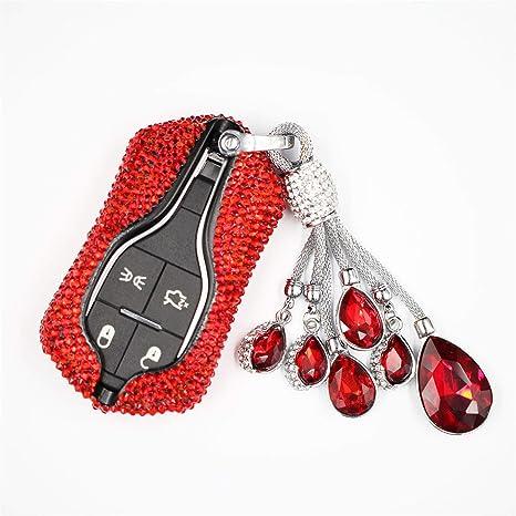 100/% HANDMADE leather Maserati Quattroporte Ghibli Levante keychain cover case