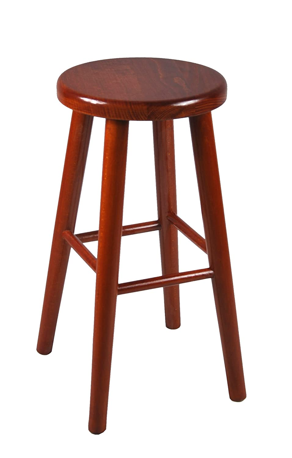 Bar stool wooden chair brand new beech solid wood bar pub new 60 cm (walnut) Magnetic Mobel