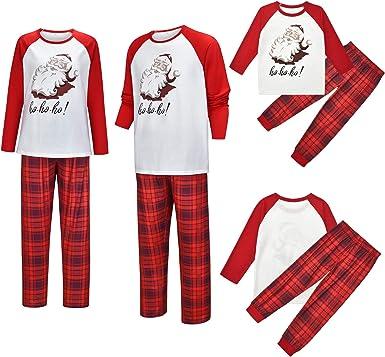 Un juego de pijama de Navidad, pijama a juego para la familia ...